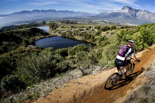 mountain biking banhoek valley stellenbosch